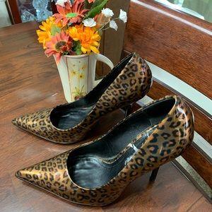 Aldo Women's Brown Leopard Print Shoe Size 39